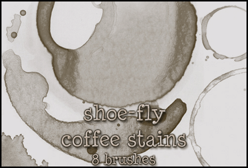 Coffee stains brush set by Shoe-fly
