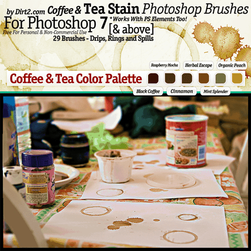 Coffee and Tea Stain Brushes by Keep waiting