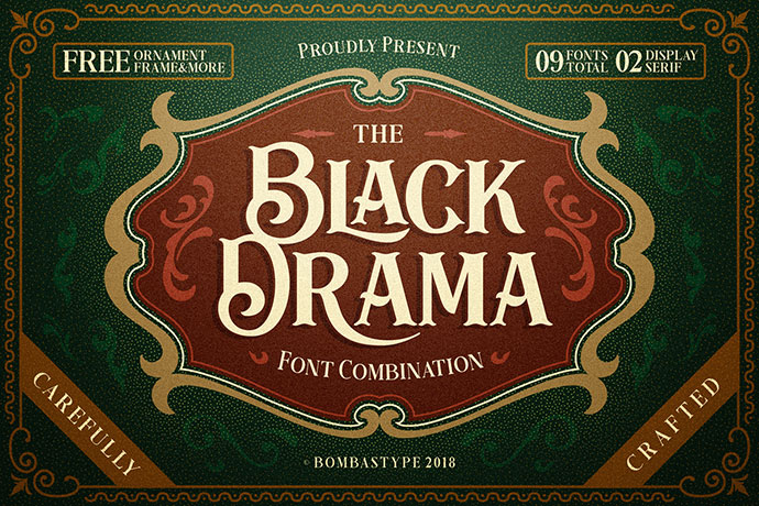 Black Drama Free Antique Retro Font