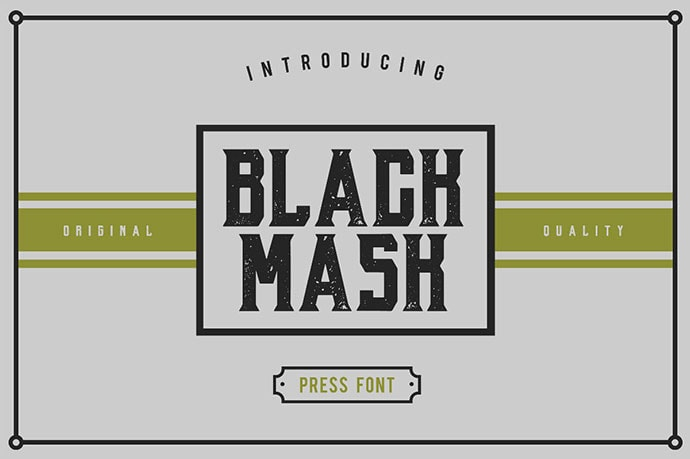 Black Mask Free Fonts