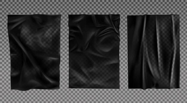 Black Wet Paper Texture Set Free Vector