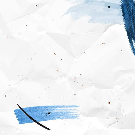Blue Brush Stroke on a Crumpled Paper