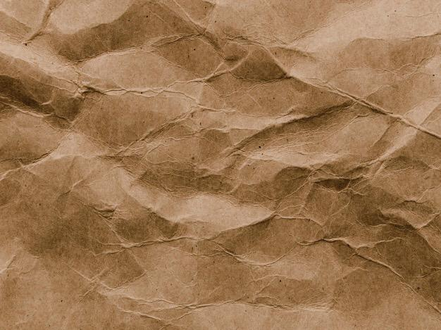 Crumpled Brown Paper Background Free Photo